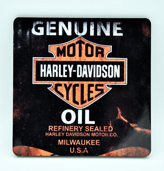 Harley Davidson Motorcycles Motor  Oil, Mud and Racing Coaster - Cork Backed