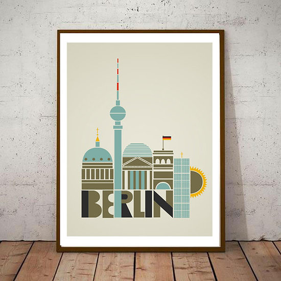 Art Deco Berlin Germany Travel Poster