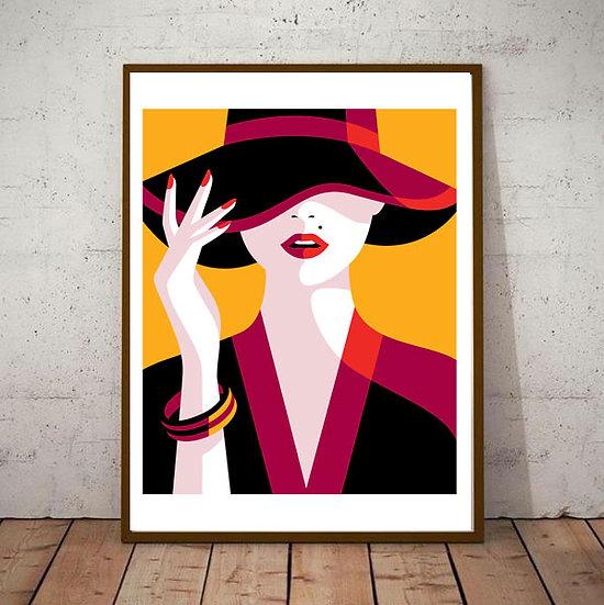 Art Deco Vogue Cover Fashion 20s 30s