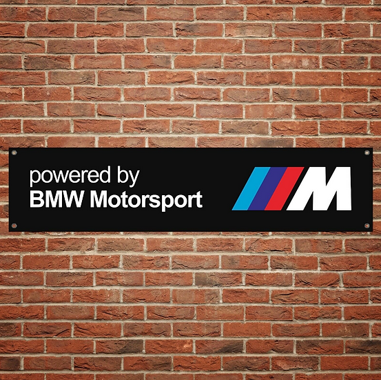 1x BMW M Sport PVC Banner (1300mm by 300mm)