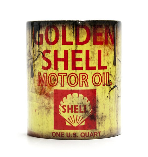 Golden Shell Motor Oil and Mud Racing 11oz Mug