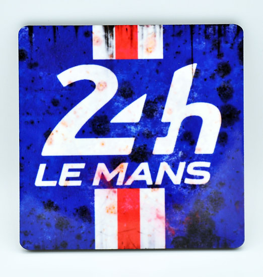 24Hrs Le Mans Oil, Mud and Racing Coaster - Cork Backed