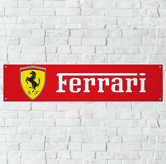 Ferrari PVC Banner (1300mm by 300mm)