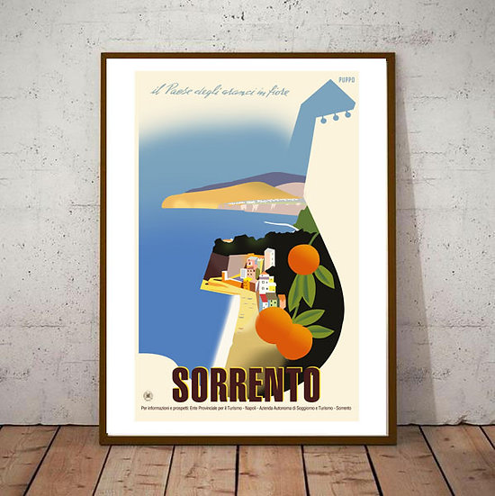Art Deco Sorrento Travel Poster