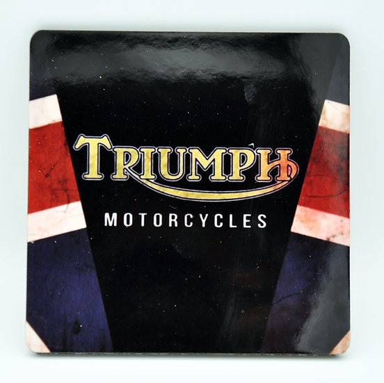 Triumph Motorcycles  Oil, Mud and Racing Coaster - Cork Backed