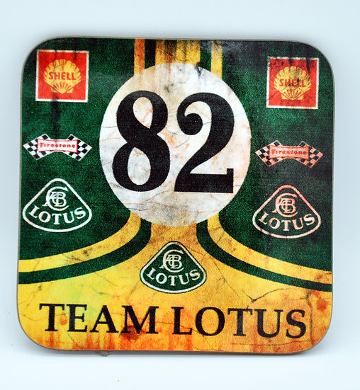 Lotus 82 Jim Clark Oil, Mud and Racing Coaster - Cork Backed