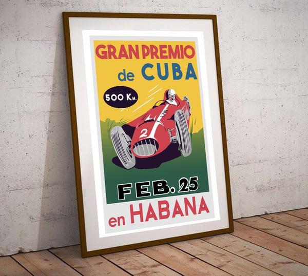 Art Deco Gran Premio de Cuba en Habana Poster