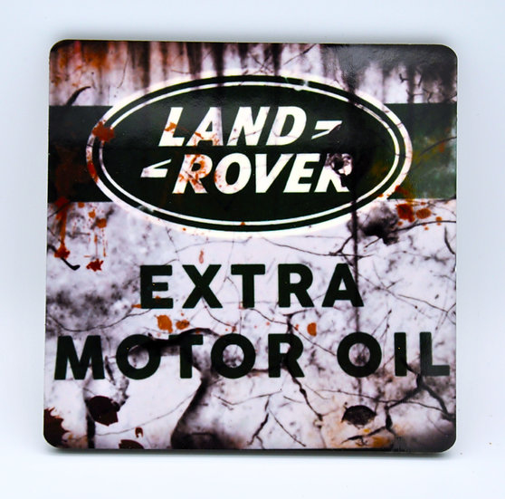 Land Rover Motor Oil, Mud and Racing Coaster - Cork Backed
