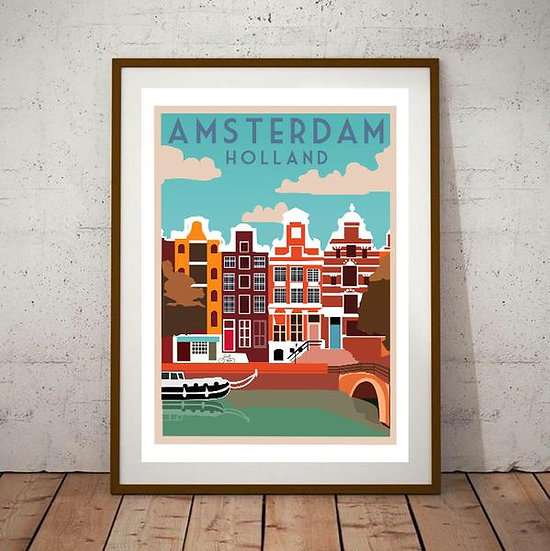 Art Deco Amsterdam Holland Poster