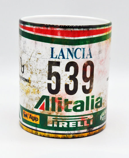 Lancia Stratos Alitalia Motor Oil, Mud and Racing 11oz Mug