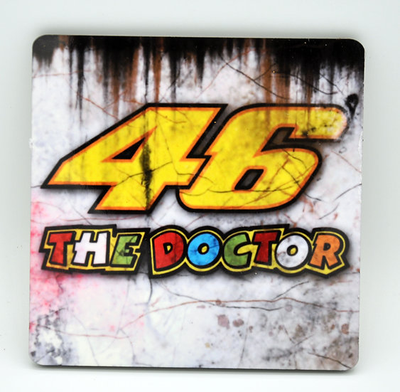 Valentino Rossi 46 The Doctor, Oil, Mud and Racing Coaster - Cork Backed
