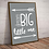 Thumbnail: Dream Big Little One Art Deco Inspirational Poster in Grey