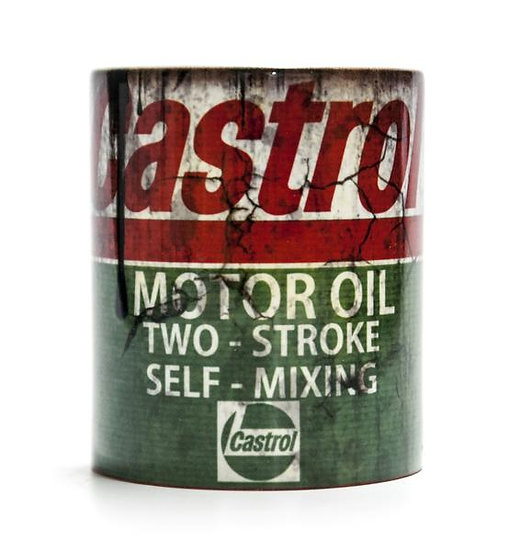 Castrol Two Stroke Oil, Mud and Racing 11oz Mug