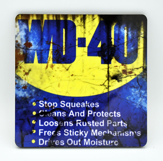 WD40 Oil, Mud and Racing Coaster - Cork Backed