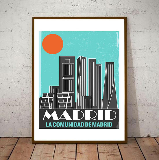 Art Deco La Comumidad De Madrid Travel Poster