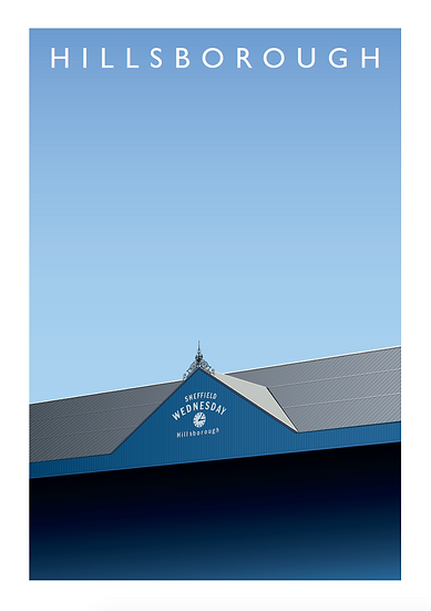 Hillsborough - Sheffield Wednesday Football Stadium Poster
