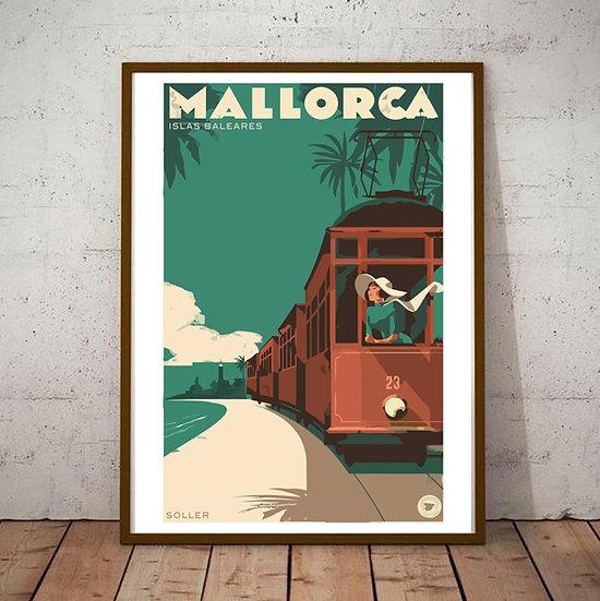 Art Deco Mallorca Islas Baleares Poster