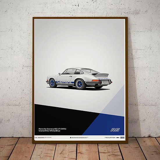 Art Deco Porsche 911 RS 2.7 Poster