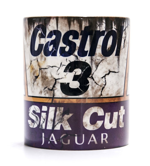 Silk Cut Jaguar Castrol Oil and Mud Racing 11oz Mug