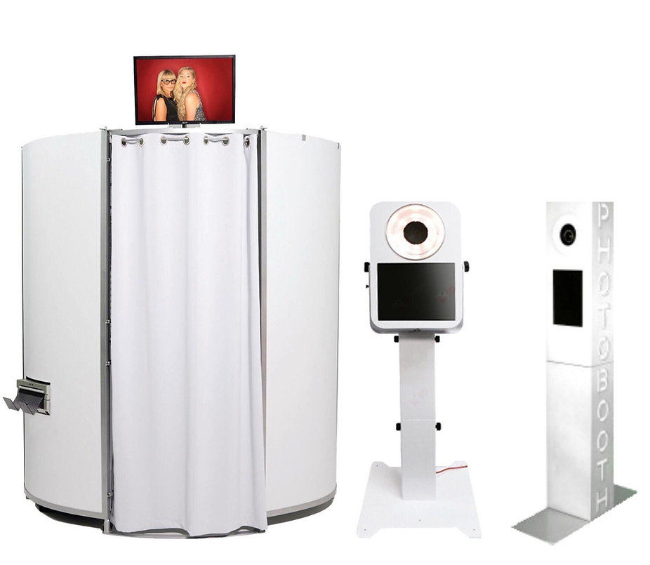 Lumi Pod Photo Booth Units enclosed and open air