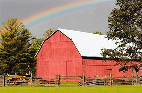 Red Barn rainbow