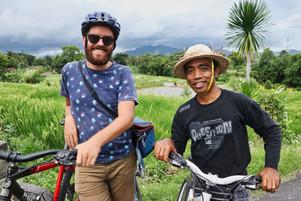 Fietsen op Bali