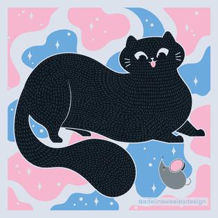 Illustration Chat Dodu Nouvelle Rencontre Souris Adeline Waeles Design