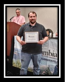 Eric Wright with PCR accepting new Membership Certificate