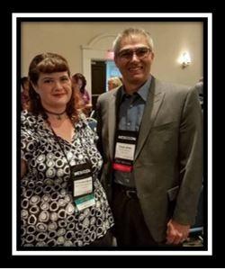 CRCBFA President Chuck Willis and Scholarship winner Cassandra Woods, Geo. S. Bush, at WESCCON 2017
