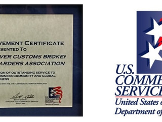 CRCBFA Recognized by Export Council of Oregon and U.S. Commercial Services
