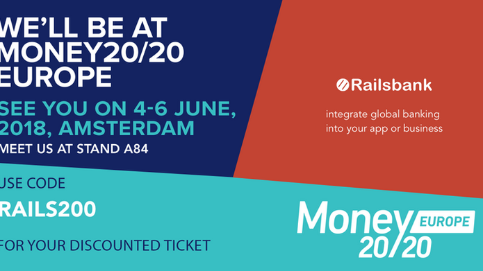 Join Railsbank at Money20/20 Europe