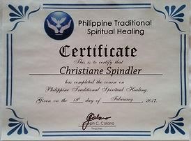 Zertifikat Philippinische Geistheilung