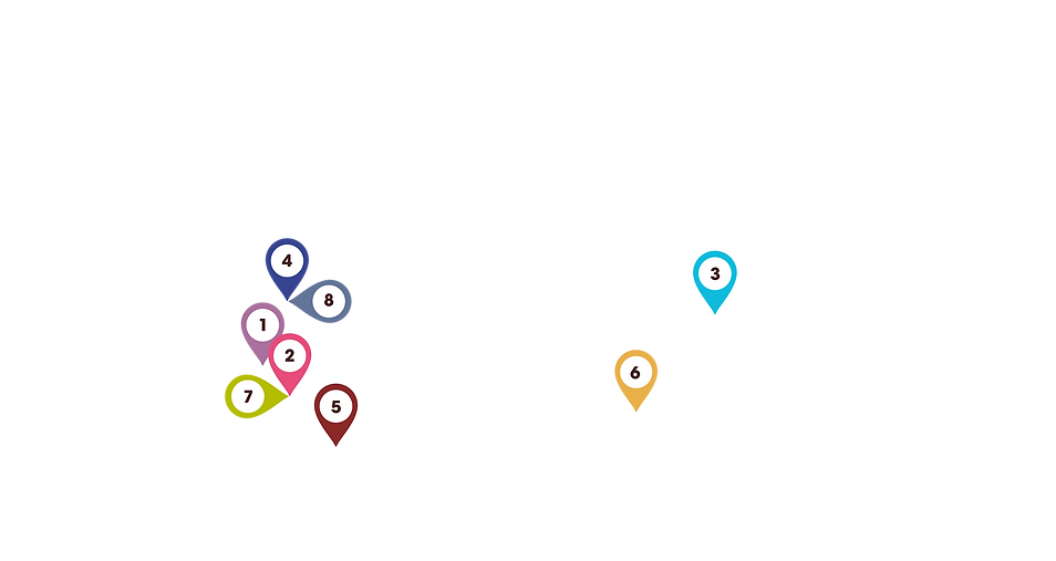 World map showing Alter Eco's co-ops in 6 different countries.