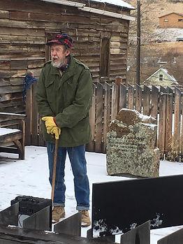 John Ellingsen at Charles Bovey Memorial
