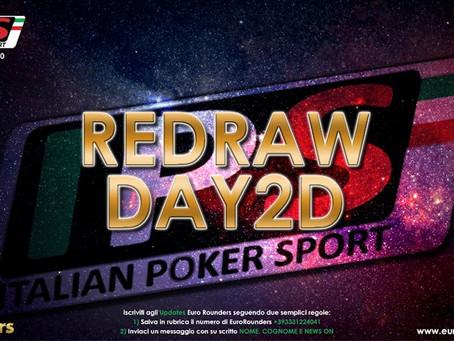 IPS Nova Gorica, il redraw del Day2D, in 290 ai tavoli e si gioca down to 92 players!