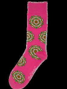 Pink Yorkshire Rose Socks