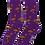 Thumbnail: Royal Purple Standing Grouse Socks