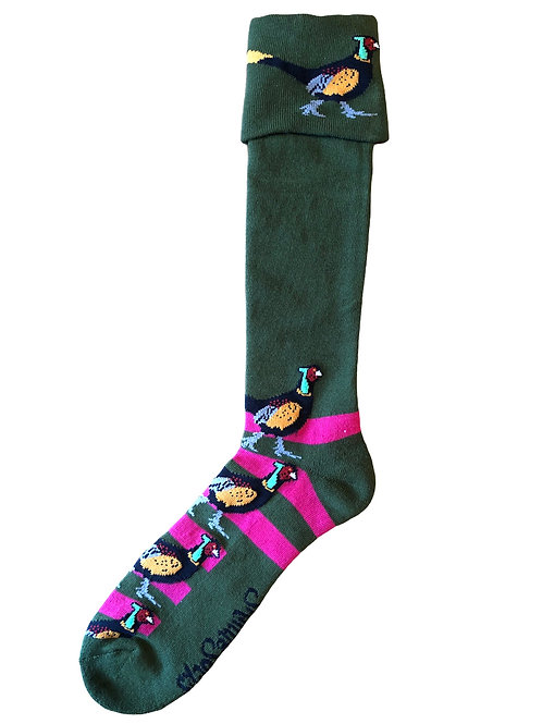 Shooting / Walking Socks Pheasant- Pink