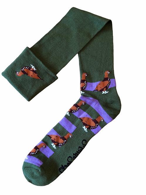 Shooting / Walking Socks Grouse- Purple