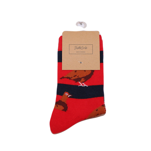 Kids Red & Navy Grouse