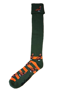 Orange & Green Grouse Shooting / Walking Socks