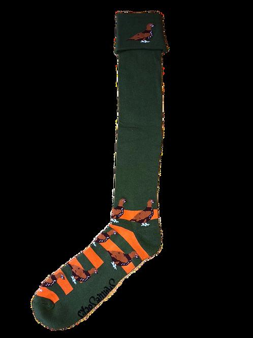 Orange & Green Grouse Shooting / Walking Socks
