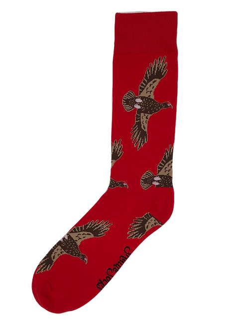 Red Flying Grouse Socks