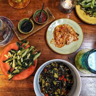 10 days fermented rice with kaki, pepper