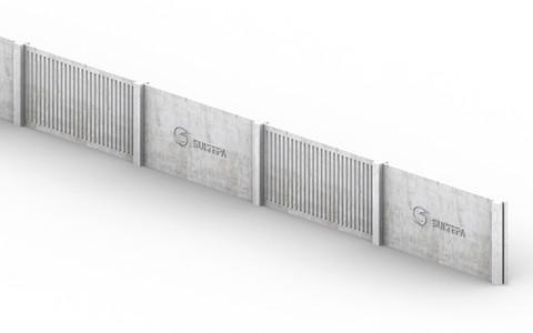 Muro pré-moldado com logotipo