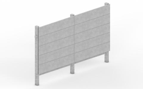 Muro pré-moldado