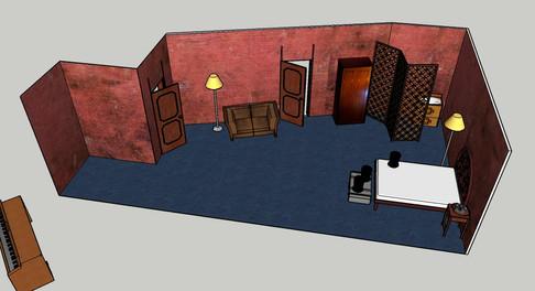 Maqueta 3D de la escenografía