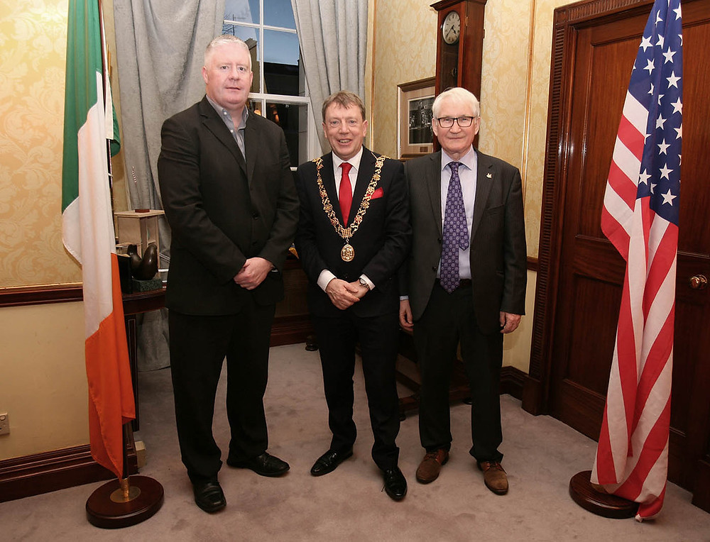 Councillor Mick Finn, Lord Mayor Cllr. Tony Fitzgerald, Michael O'Neill. Picture, Tony O'Connell Photography.