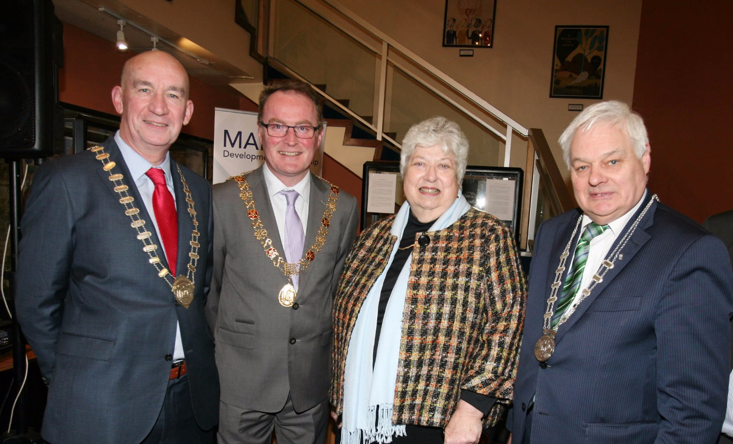 07 Pat O'Connell President of Cork Business Assoc , Mayor Des Cahill, Rosemary O'Neill, Cllr Frank O