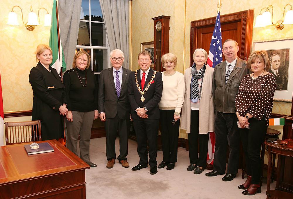 Siobhan O'Neill, Breda O'Neill, Michael O'Neill, Lord Mayor Cllr. Tony Fitzgerald, Rose O'Neill, Mary Smyth, Dominic Smyth, Marion Sherman. Picture, Tony O'Connell Photography.